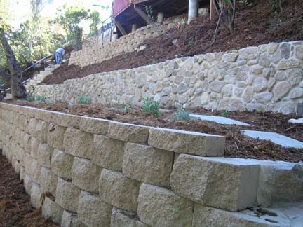 Retaining walls stabilize and add beauty