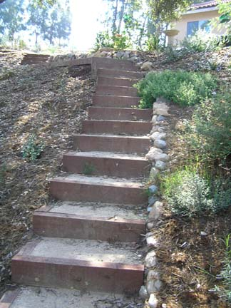 Escondido stairs on slope