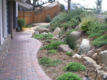 Mt Helix pavers and native garden