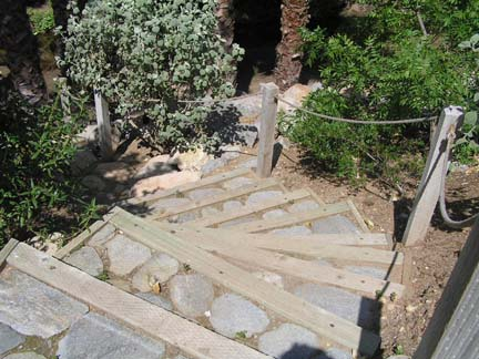 Wood And Rock Stairs ...